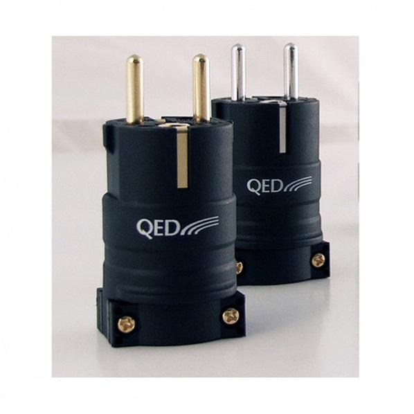 QED Reference Euro plug Rhodium