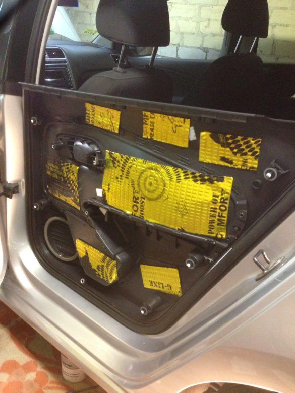 шумоизоляция VW Polo